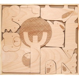 PUZZLE DE MADERA ANIMALES del BOSQUE de PETIT COLLAGE