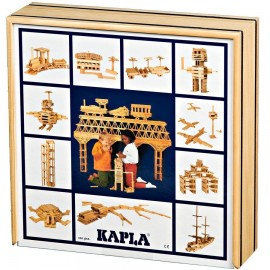 KAPLA - 100 PLAQUITAS de CONSTRUCCIÓN MADERA NATURAL