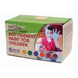 KIT DE PINTURAS PARA NIÑOS 6 COLORES de NATURAL EARTH PAINT