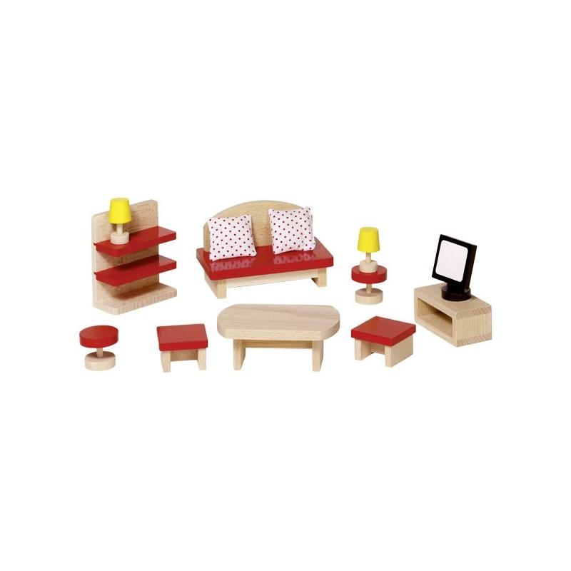 Muebles de sal n para casa de mu ecas de goki ecodukatoys for Muebles casa de munecas