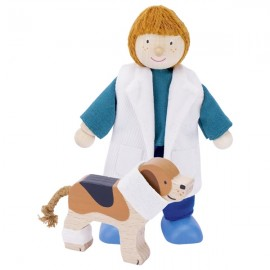 MUÑECO FLEXIBLE VETERINARIA de GOKI