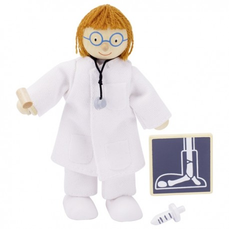 MUÑECO FLEXIBLE DOCTORA de GOKI