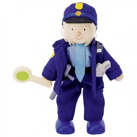 MUÑECO FLEXIBLE POLICIA de GOKI