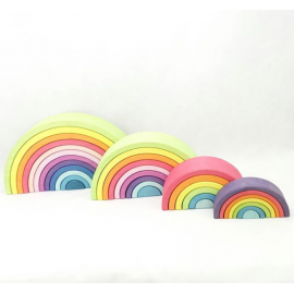 ARCO IRIS WALDORF MEDIANO COLORES PASTEL de LITTLE VIKING TOYS