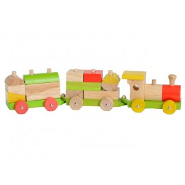 TREN DE MADERA CON BLOQUES - EVER EARTH