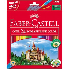 24 COLORES ECOLOGICOS CON AFILALAPIZ - FABER CASTELL