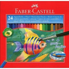 24 LAPICES ACUARELABLES CLASSIC ESTUCHE DE CARTON - FABER CASTELL