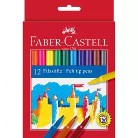 12 LAPICES ROTULADORES ESTUCHE DE CARTON - FABER CASTELL