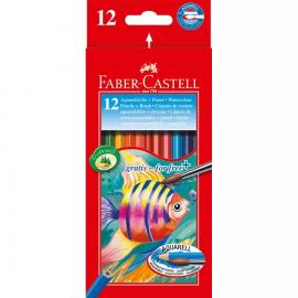 12 LAPICES ACUARELABLES CLASSIC ESTUCHE DE CARTON - FABER CASTELL