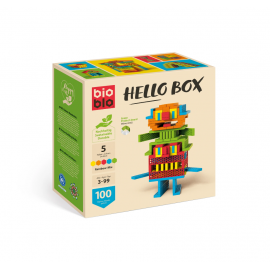 BIOBLO - HELLO BOX RAINBOW MIX 100 piezas