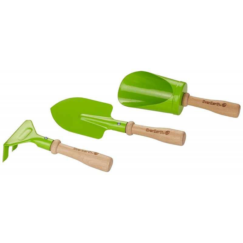 Set de herramientas para huerto y jardineria de everearth for Herramientas jardineria ninos