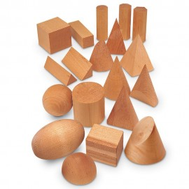 SET 19 CUERPOS GEOMÉTRICOS en MADERA de LEARNING RESOURCES